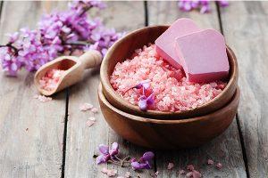 Pink Himalayan Bath Scrub with Roses
