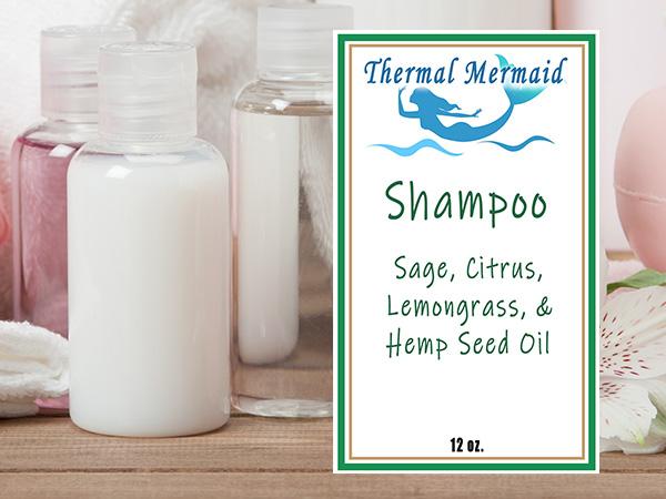Sage, Citrus, Lemongrass, & Hemp Oil Shampoo