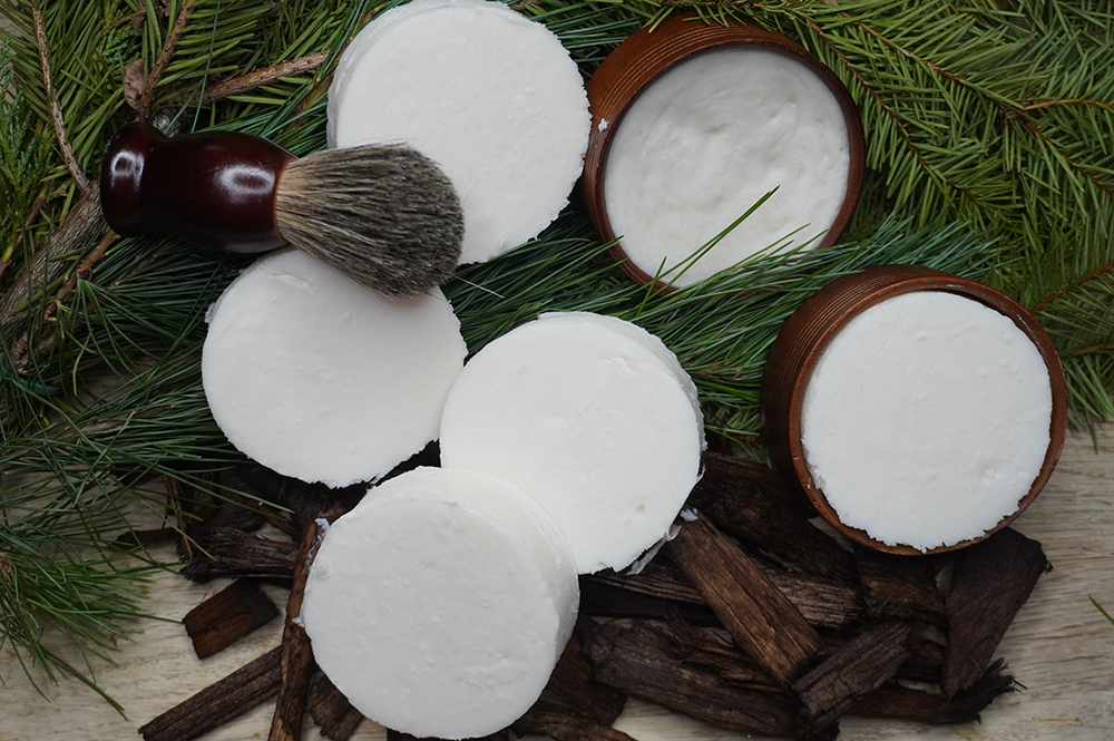 Duel Lye Shave Soap with Cedar & Bamboo